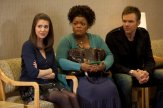 "COMMUNITY -- ""Intermediate Documentary Filmmaking"" Episode 215 -- Pictured: (l-r) Alison Brie as Annie, Yvette Nicole Brown as Shirley, Joel McHale as Jeff -- Photo by: Adam Rose/NBC"